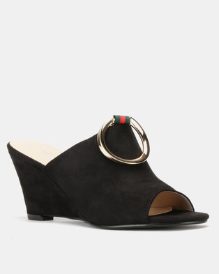 d48358298335 Utopia Wedge Mules Black