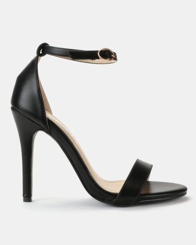 Utopia PU Barely There Sandals Black