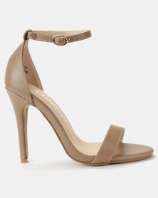 Utopia PU Barely There Sandals Nude