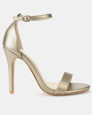 Utopia PU Barely There Sandals Gold