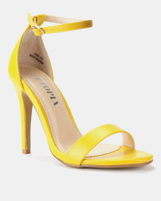 134bfefeb51 Utopia PU Barely There Sandals Yellow