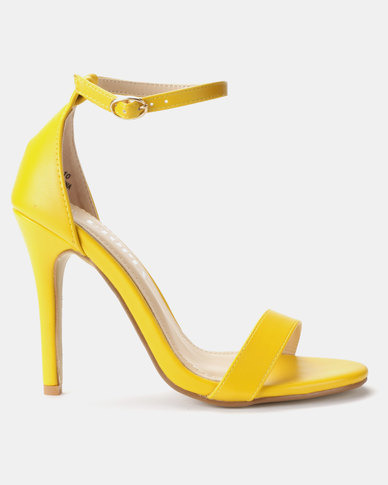 Utopia PU Barely There Sandals Yellow