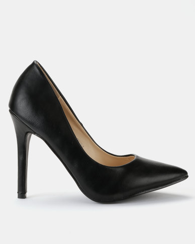 Utopia PU Pointy Courts Black