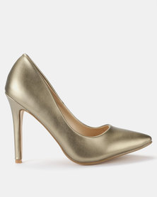 Utopia PU Pointy Courts Gold