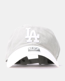 47 Brand MLB Los Angeles Dodgers Two Tone '47 Clean Up  Cap Grey