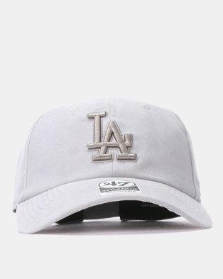 792dcf64f4f683 47 Brand Los Angeles ULTRABASIC  47 CLEAN UP Cap Grey