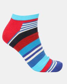 Happy Socks Multi Stripe Low Socks Multi