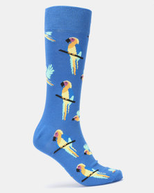 Happy Socks Parrot Socks Blue Multi