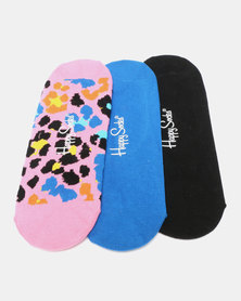 Happy Socks 3-Pack Leo Liner Socks Multi