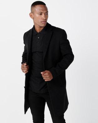 62be5f8e48b New Look Overcoat Black