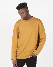 New Look Dropped Shoulder Sweatshirt Yellow