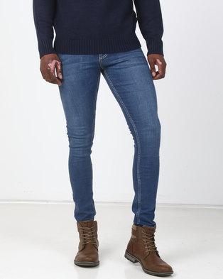 New Look Super Skinny Stretch Jeans Bright Blue