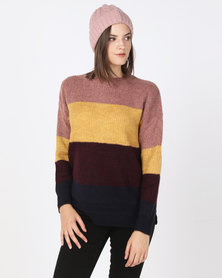New Look Block Stripe Jumper Multi
