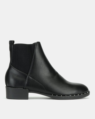 New Look Doug Studded Rim Chelsea Boots Black