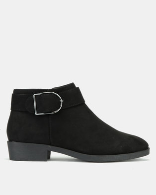 New Look Dahl 2 Suedette Ankle Boots Black