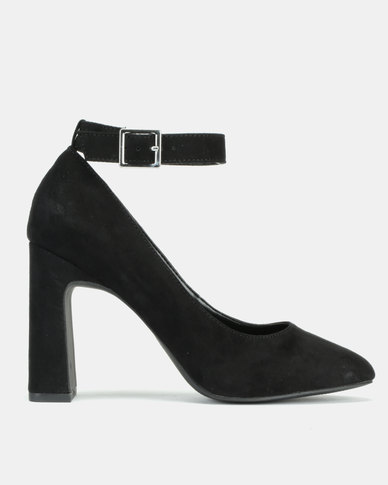 New Look Salissa Suedette Flared Heel Court Shoes Black