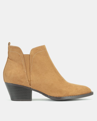 New Look Buckeroo Western Pointed Chelsea Boots Tan