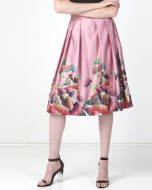 JanaS Sally Pleated Skirt Pink