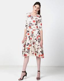 JanaS Clara Dress Vintage Print