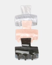 New Look T Resin 3 Pack Bulldog Clips Multi