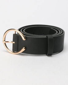 New Look Horseshoe Buckle Jeans Belt Black