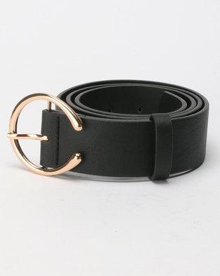 New Look Horseshoe Buckle Jeans Belt Black