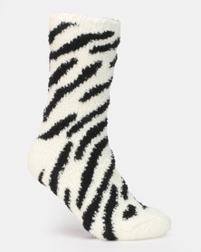 New Look 2PP Animal Pattern Socks Mink Multi