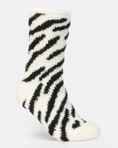 New Look 2PP Animal Pattern Socks Mink Multi
