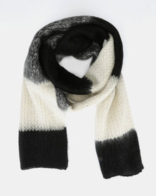 New Look Extra Long Knit Scarf Black Pattern