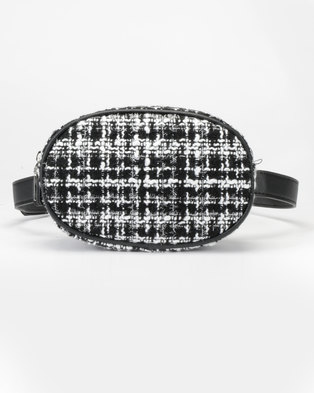 New Look Round Boucle Bumbag Black