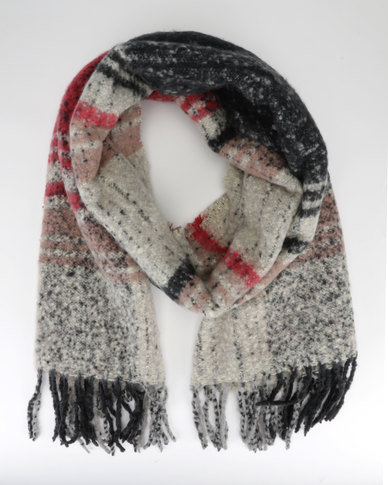New Look Scarf  Red Pattern