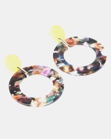 New Look Neon Stud Post Resin Earrings Multi-Coloured