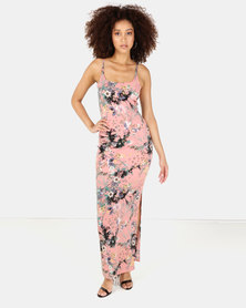 Sissy Boy Printed Maxi Dress Pink