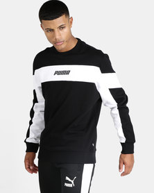 Puma Sportstyle Core Rebel Crew FL Sweatshirt Black
