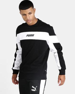 951cdaa1e88b Puma Sportstyle Core Rebel Crew FL Sweatshirt Black