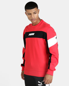 Puma Sportstyle Core Rebel Crew FL Sweatshirt Red