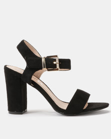 Utopia Block Heel Sandals Black