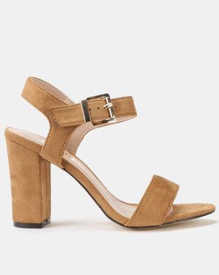 Utopia Block Heel Sandals Camel