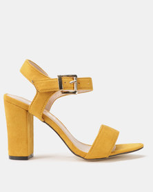 Utopia Block Heel Sandals Mustard