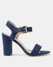 Utopia Block Heel Sandals Navy