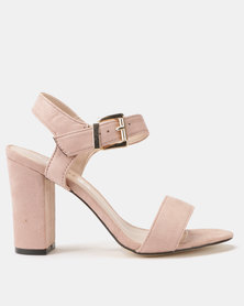 Utopia Block Heel Sandals Pink