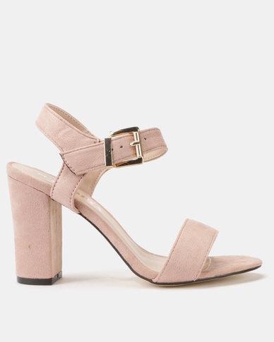 Utopia Block Heel Sandals Pink