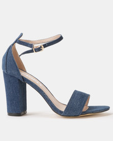 Utopia Block Heel Sandals Dark Denim