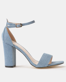 Utopia Block Heel Sandals Light Denim
