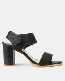 Utopia Stack Block Heel Sandals Black