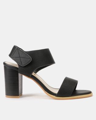 Utopia Stack Block Heel Sandals Black