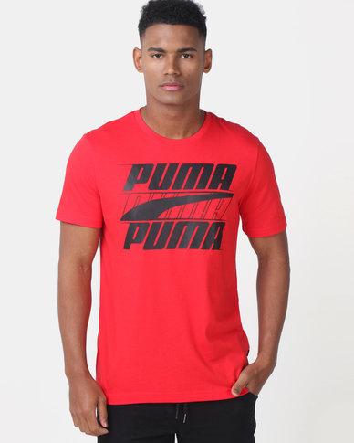 Puma Sportstyle Core Rebel Basic Tee Red