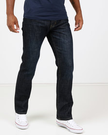 Life & Glory Sprinter Dark Wash Straight Jeans Blue