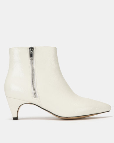 Public Desire Atomic Textured Boots White