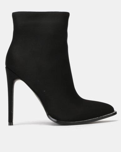 Public Desire Senorita Lycra Boots Black